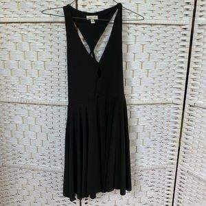 Urban Outfitters Keyhole Black Skater Dress